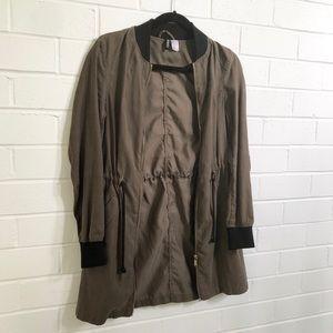 H&M Army Green Spring Jacket Sz 2